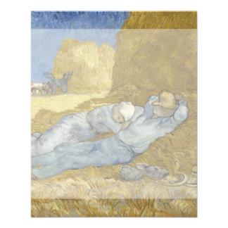 Siesta después del mijo de Vincent van Gogh Tarjetas Publicitarias
