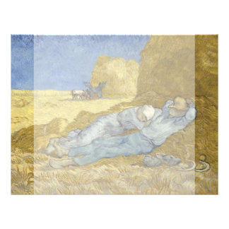 Siesta después del mijo de Vincent van Gogh Tarjetón