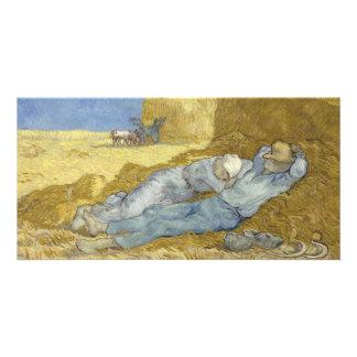 Siesta después del mijo de Vincent van Gogh Tarjetas Personales Con Fotos