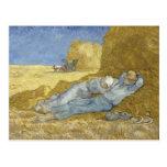 Siesta después del mijo de Vincent van Gogh Postales