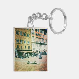 Siesta in Italy Keychain