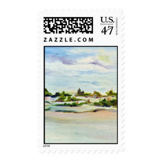 Siesta Key Beach Postage Stamp