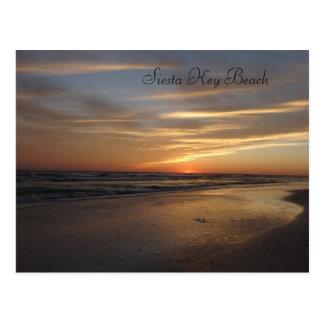 Siesta Key Beach Sunset Postcard