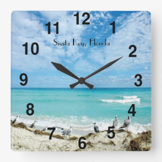 Siesta Key Florida Wall Clock
