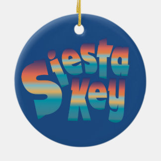 Siesta Key in sunset colors Ceramic Ornament
