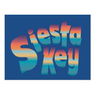 Siesta Key in sunset colors Postcard