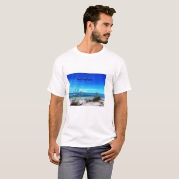 Beach Themed Siesta Key Men's Tee Shirt