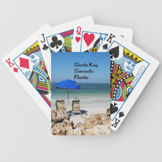 Siesta Key Sarasota Florida Bicycle Playing Cards