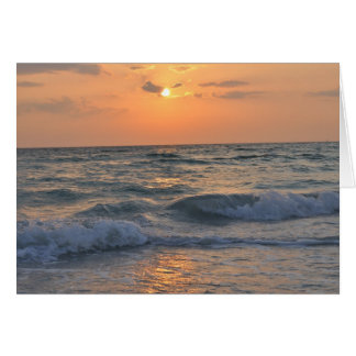 Siesta Key Sunset Card