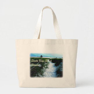 Siesta Keys Beach, Florida Apparel Large Tote Bag