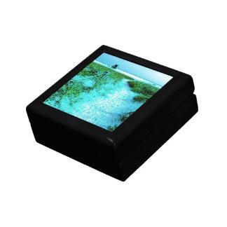 Siesta Keys Beach in Colored Edges Themed Gifts Keepsake Box