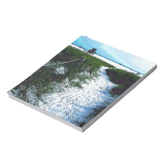 Siesta Keys Beach in Soft Plastic Photography Notepad