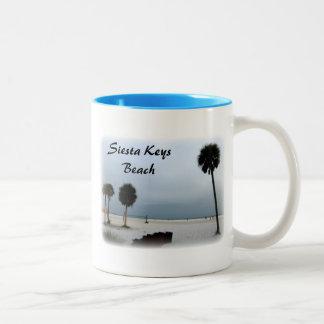 Siesta Keys Beach Two-Tone Coffee Mug