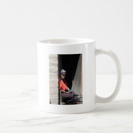 Siesta maya taza básica blanca