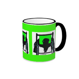 Siesta verde taza a dos colores