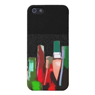 Siete botellas de vino en la pared iPhone 5 carcasas