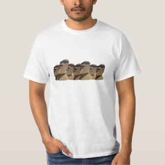 Siete cadera Moai - camiseta del valor