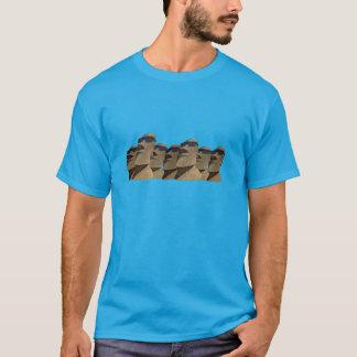 Siete cadera Moai - camiseta oscura básica