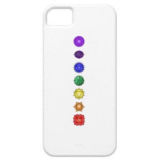 Siete chakras verticales iPhone 5 carcasa