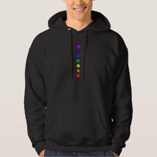 Siete chakras verticales suéter con capucha