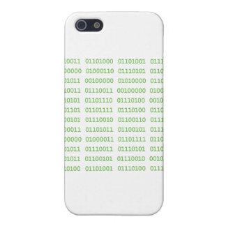 Siete códigos binarios sucios iPhone 5 cárcasa