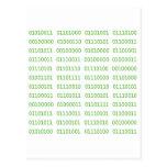 Siete códigos binarios sucios postal