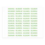 Siete códigos binarios sucios tarjeta postal