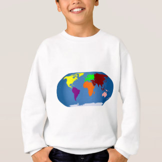 Siete continentes coloreados sudadera