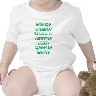 Siete días trajes de bebé