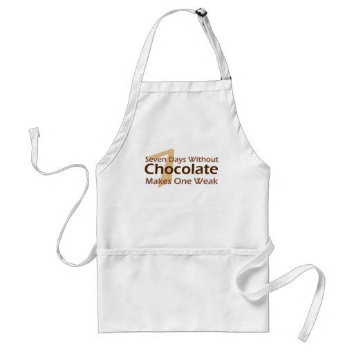 Siete días sin el chocolate delantal