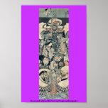 Siete dioses de buena fortuna por Utagawa, Kuniyos Poster