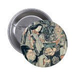 Siete dioses de buena fortuna por Utagawa, Kuniyos Pin