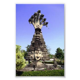 Siete dirigieron el naga, Tailandia Fotografía