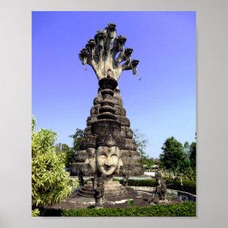 Siete dirigieron el naga, Tailandia Póster