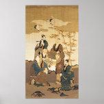 Siete hombres sabios en el bosque de bambú poster