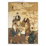 Siete hombres sabios en el bosque de bambú tarjetas