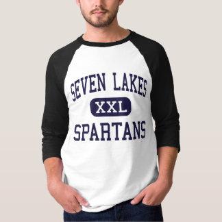 Siete lagos - Spartans - High School secundaria -  Playeras