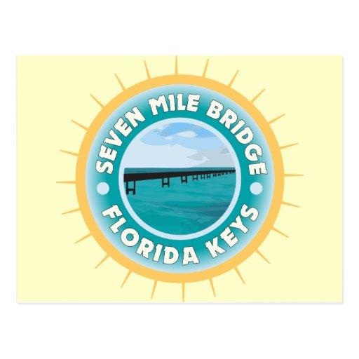 Siete llaves de la Florida del puente de la milla Postales