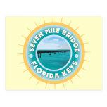 Siete llaves de la Florida del puente de la milla Tarjeta Postal