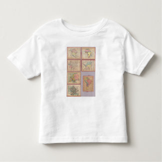 Siete mapas del rompecabezas del mundo camisas