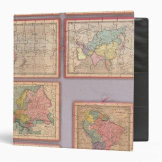 """Siete mapas del rompecabezas del mundo carpeta 1 1/2"""""""