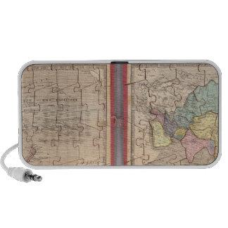 Siete mapas del rompecabezas del mundo iPhone altavoz