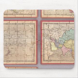 Siete mapas del rompecabezas del mundo tapetes de ratones