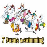 siete navidad del día de la uno-natación de los ci escultura fotografica