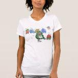 Siete pájaros divertidos del kiwi del dibujo anima camiseta