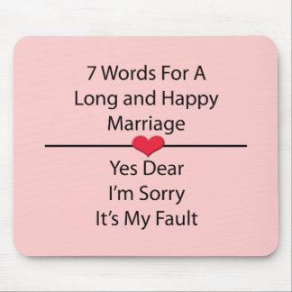 Siete palabras para una boda larga y feliz alfombrilla de raton