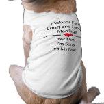 Siete palabras para una boda larga y feliz camisetas de perro