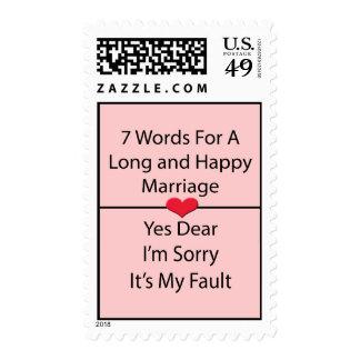 Siete palabras para una boda larga y feliz sellos