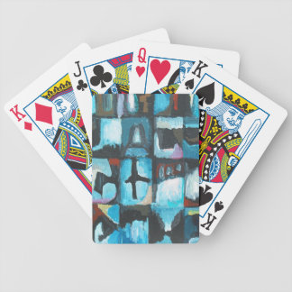 Siete pecados mortales (arte abstracto del simboli baraja cartas de poker