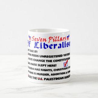 Siete pilares de liberalismo tazas de café